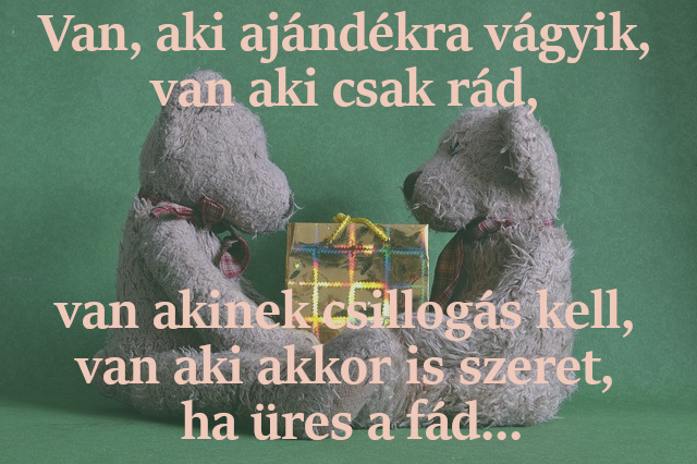 karácsonyi szerelmes idézetek, van aki ajándékra vár
